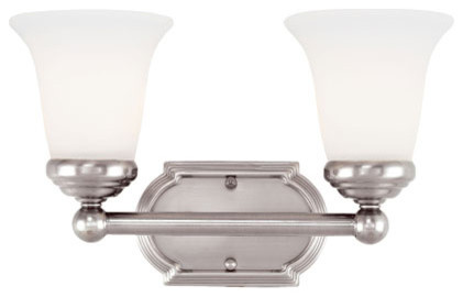 Pewter Two Light Bath Fixture Traditional Bathroom Vanity Lighting By B