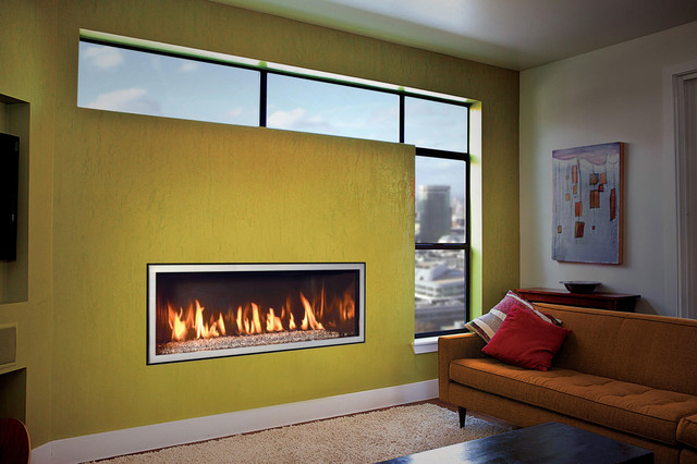 Ml47 mendota 39 s brand new linear fireplace contemporary indoor fireplaces other metro by - Contemporary linear fireplaces cover idea ...