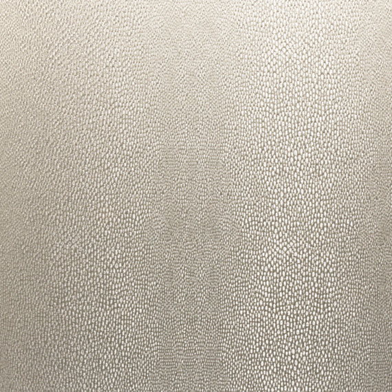 Silver Metallic Faux Shagreen Pebble Fabric Modern