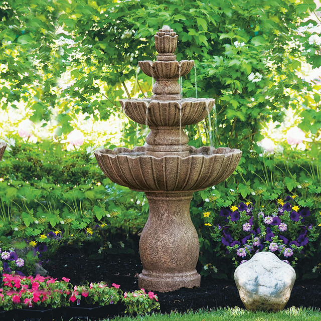 Mirabella Fountain Traditional Outdoor Fountains And
