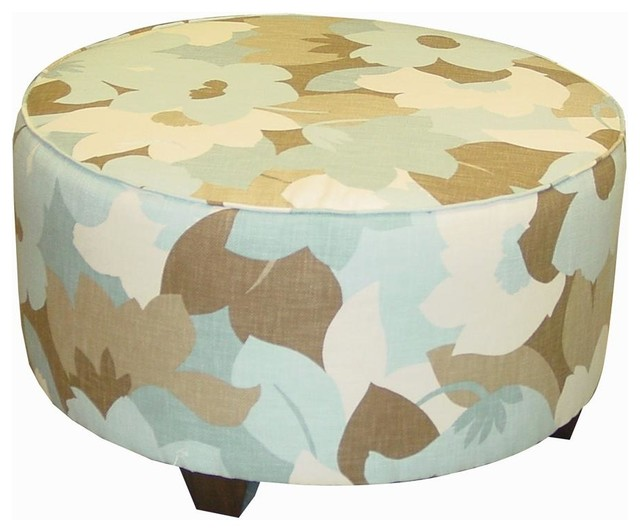 31 In Round Cocktail Ottoman Contemporary Footstools