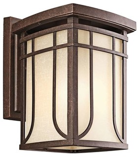Kichler Lighting 49148AGZ Riverbank Arts And Crafts Mission Outdoor Wall Ligh