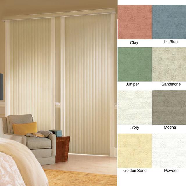 Havana vinyl vertical blinds 78 inches wide x custom Home decorators vertical blinds