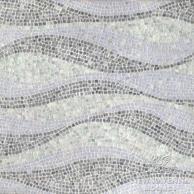 Brighton Wave Stone Mosaic Contemporary Tile Other