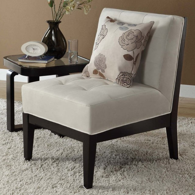 Pillows For Living Room Chairs: Bristol Armless Chair With Floral Accent Pillow