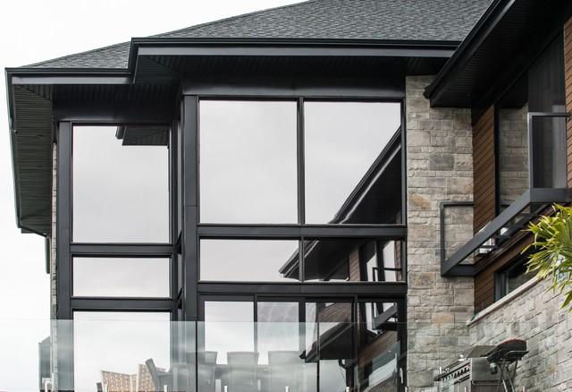 Aluminum Window Plastic In  Houses : Modern house with black aluminium windows - Modern - Windows And Doors ...