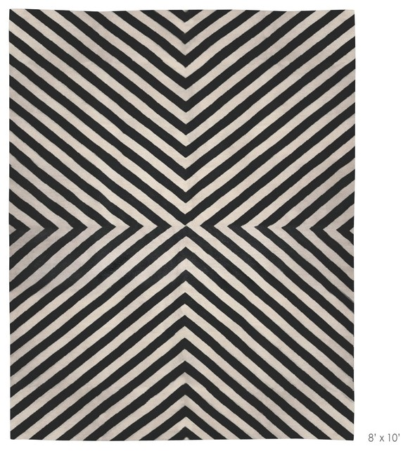 Superior Large Black And White Rug Designs
