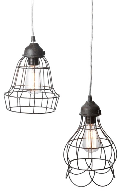 wire rose pendant light - eclectic - pendant lighting
