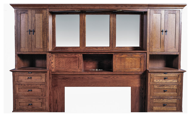 queen pier wall with beveled mirror craftsman bedroom furniture