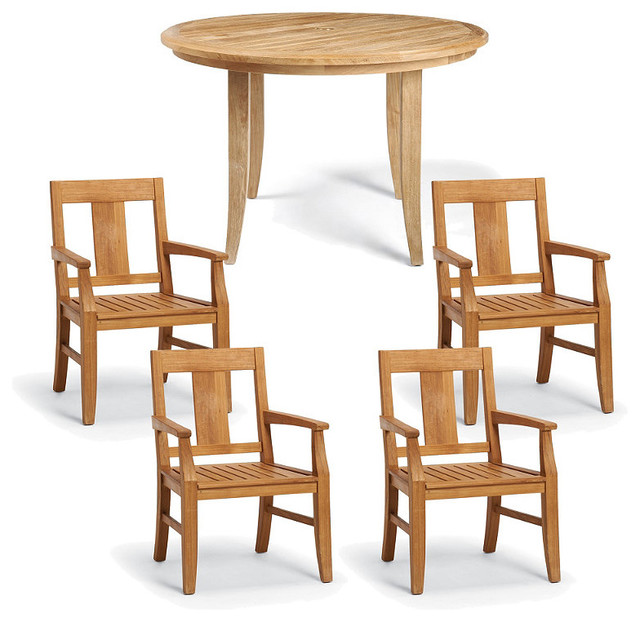 Melbourne 5 pc round dining set contemporary dining for Round dining tables melbourne