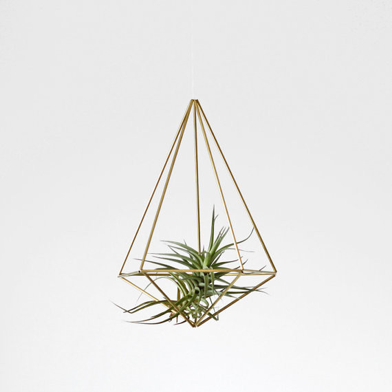 Brass Himmeli Hanging Planter By Hruskaa Contemporary