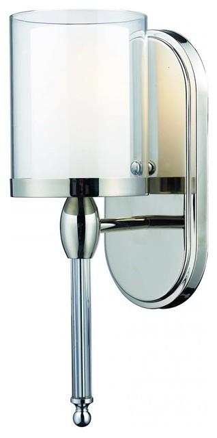 Chrome/Glass Bathroom Sconce