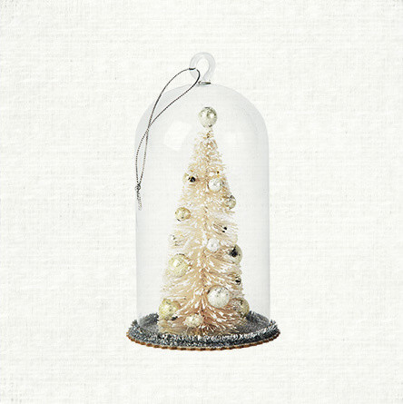 Small Glass Bell Tree Ornament - Contemporary - Christmas ...