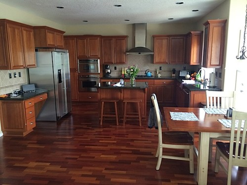 Paint Color For open kitchen/living room with lots of Cherrywood