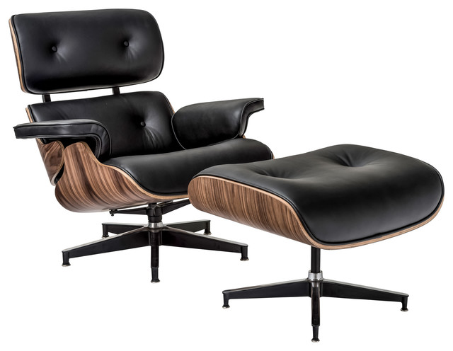 black leather modern living room chairs by edgemod furniture