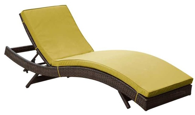 Modway peer chaise eei 961 brn per contemporary for Chaise longue salon