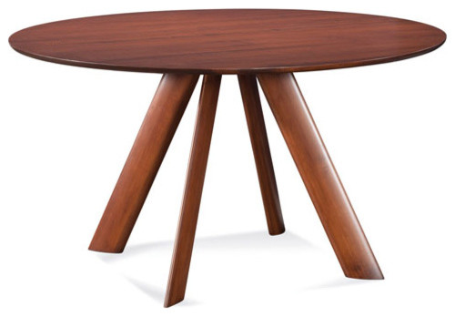 eden 42 inch walnut round dining table contemporary