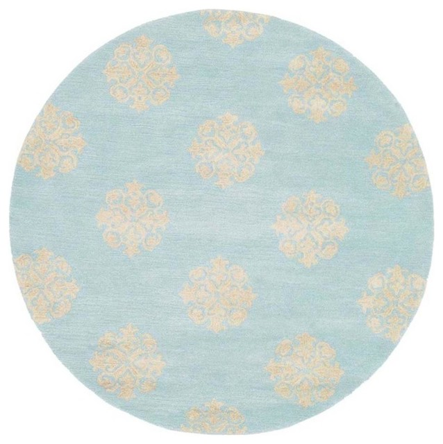Round Rug in Turquoise 6 ft Contemporary Area Rugs  : contemporary area rugs from www.houzz.com size 638 x 640 jpeg 73kB