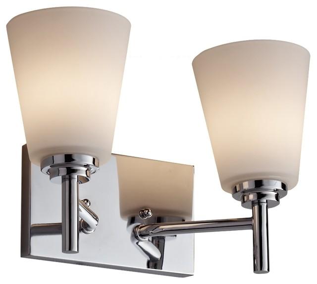 Feiss VS25002-CH Regan 2 Light Chrome Bathroom Wall Sconce - Contemporary - Bathroom Vanity ...
