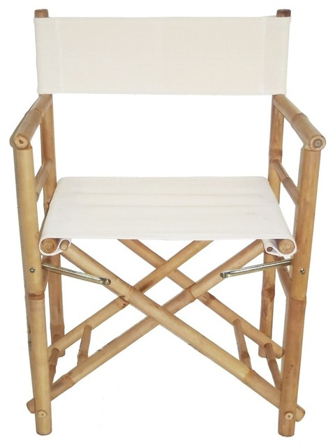 Bamboo Folding Director 39 S Chair Contemporary Outdoor Folding Chairs