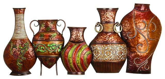 Metal Vase Wall Decor Mediterranean Vases By