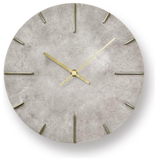 Quaint Clock Silver Contemporary Wall Clocks East