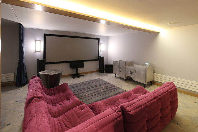 Media Room With Ambient Lighting