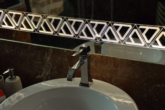 Trious mirror highlighter detail private residence for Bathroom accessories in ahmedabad