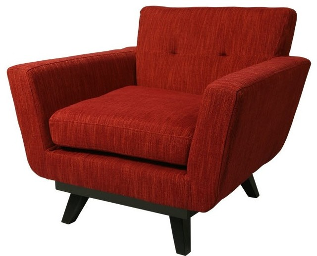 Brooklyn queens club chair northgate red contemporary for Furniture northgate