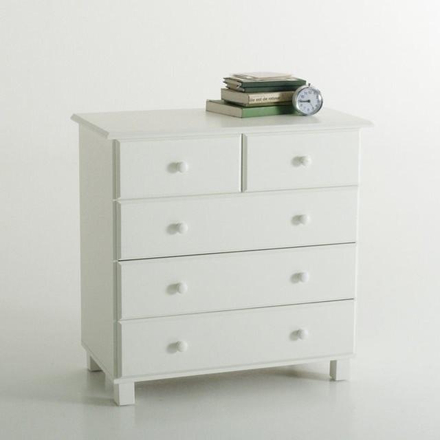 commode 5 tiroirs pin massif yael contemporain commode et chiffonnier par la redoute. Black Bedroom Furniture Sets. Home Design Ideas