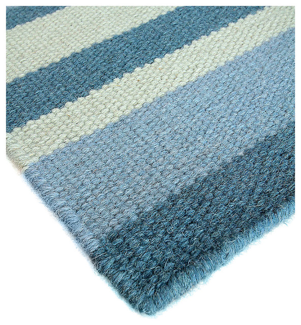 Beaufort wool berber stripe rug 6 39 x 9 39 transitional for Wool berber area rug