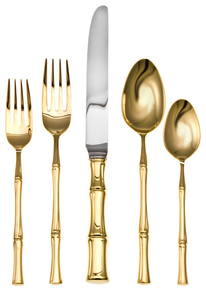 Ricci Bamboo Gold Place Setting Traditional Flatware