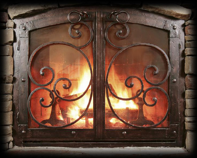 Fireplace Doors And Fireplace Screens Traditional Fireplace Screens San Diego By Mantel