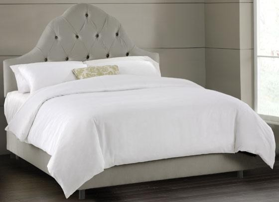 Tufted Arch Upholstered Bed Contemporary Beds By Home Decorators Collection