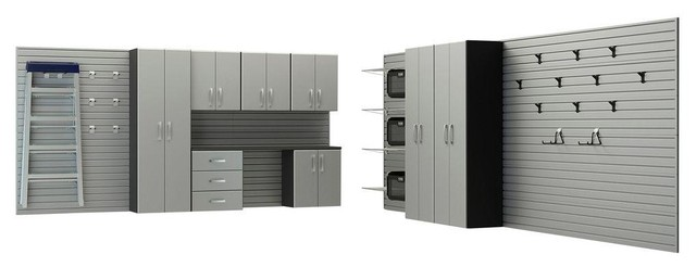 Garage Storage Systems & Accessories: Flow Wall Garage Cabinets Deluxe Cabinet contemporary ...