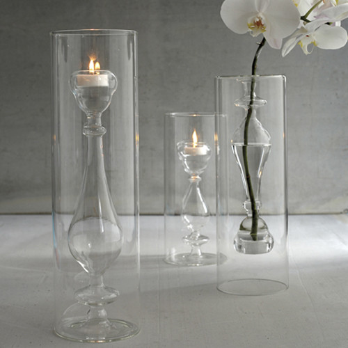 Light Opera Set Of 3 Candlestick Tealight By Two's Company