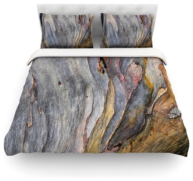 """Milky Wood"" Duvet Cover by Susan Sanders, Gray and Brown ..."