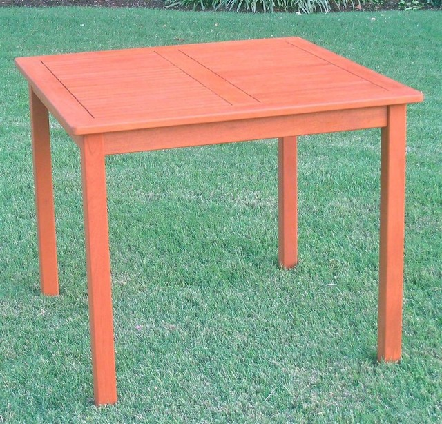 balau wood square patio table transitional outdoor