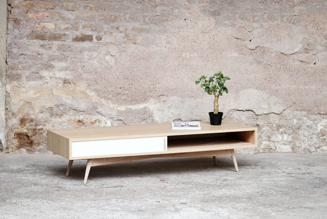 Table basse cr ation sur mesure modern coffee tables other metro by - Table a manger sur mesure ...