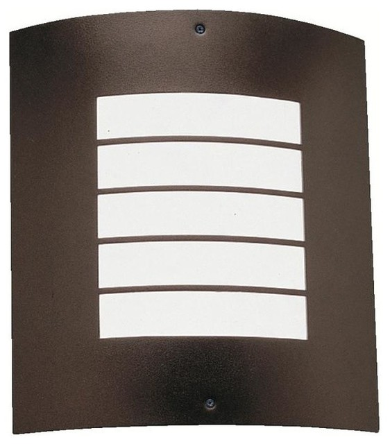 Exterior Wall Lights Architectural : Kichler Newport 1-Light Architectural Bronze Outdoor Wall Light - Transitional - Outdoor Wall ...