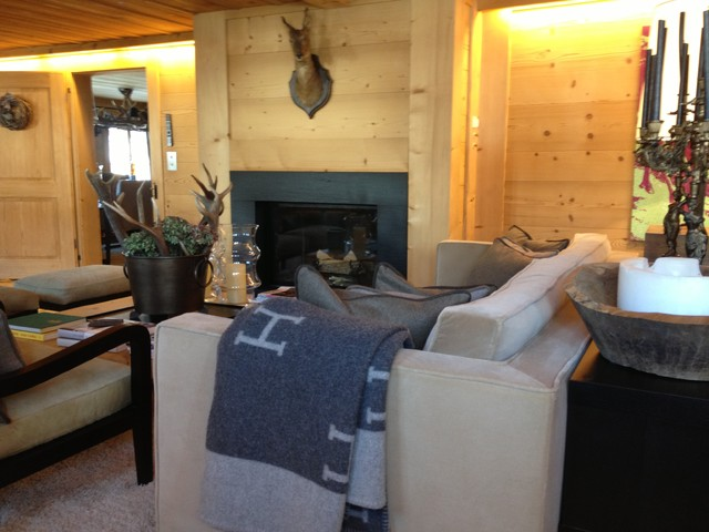 Chalet interieur country other metro by chalet int rieur for Interieur chalet