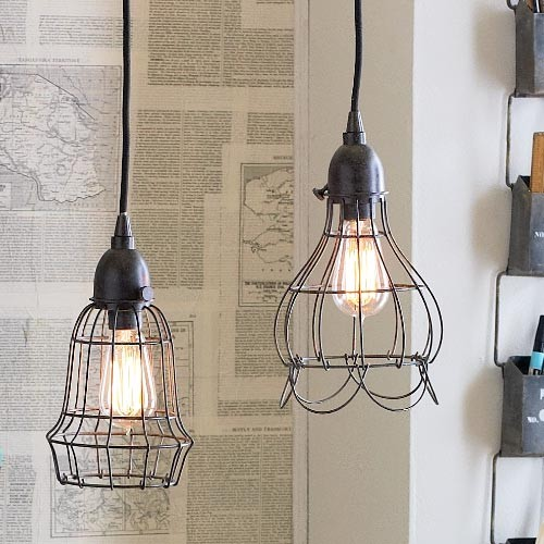 wire pendant lights eclectic pendant lighting by rsh