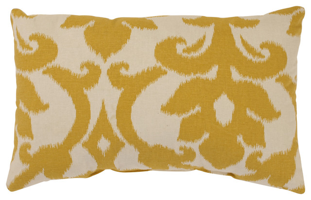 Azzure Gold Rectangle Throw Pillow - Contemporary - Scatter Cushions - by Pillow Perfect Inc