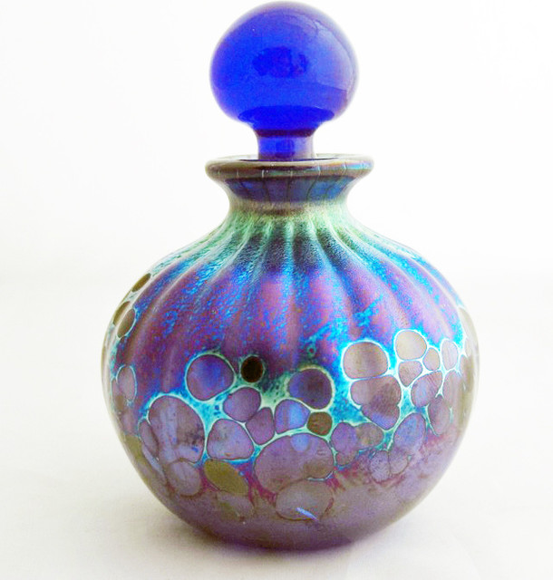 Handmade glass perfume bottles modern decorative for Modern decorative objects