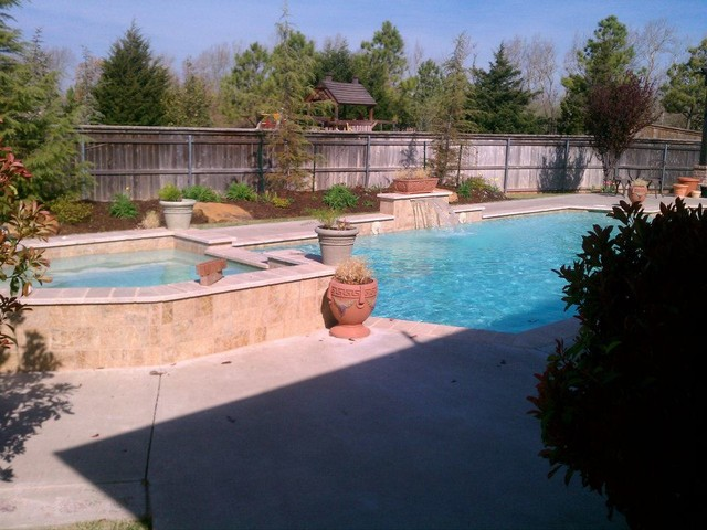Gunite And Vinyl Liner Pools Modern Oklahoma City By