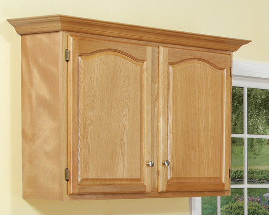 Oak Wall Cabinets - With face frames, stiles, and rails made from ...