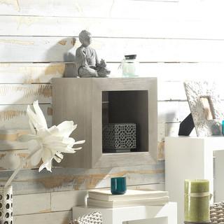 Lay cubo colgante 40x40 piedra r stico estanter as de - Banak importa recibidores ...