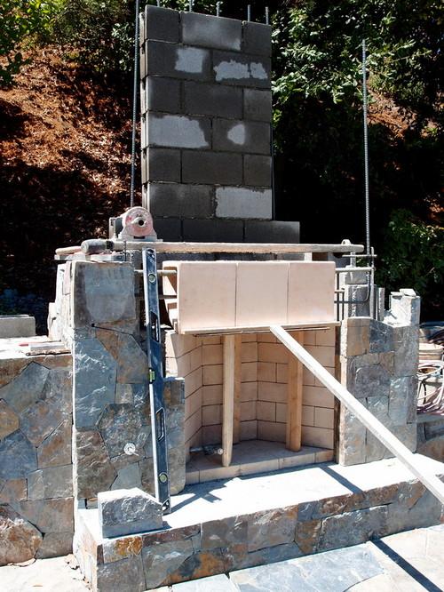 Building Chimney Concrete Blocks
