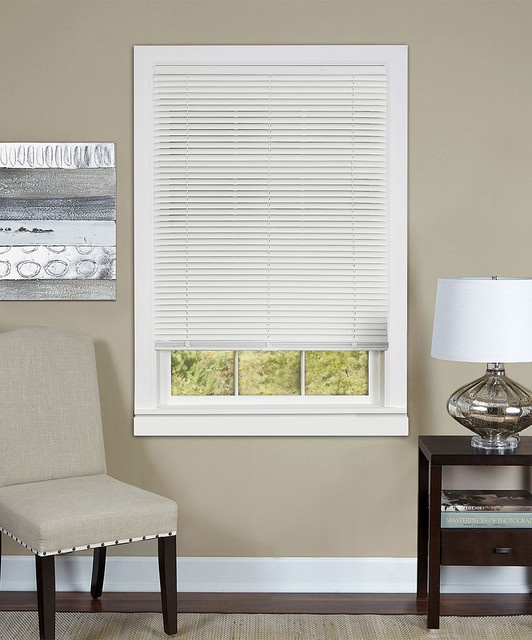 Pearl White Deluxe Cordless Blinds Contemporary Roman Shades