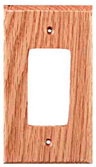 Traditional rocker red oak switch
